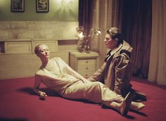 "Tilda Swinton in David Bowie's""The Stars (Are Out Tonight)"", photographed byFloria Sigismondi."