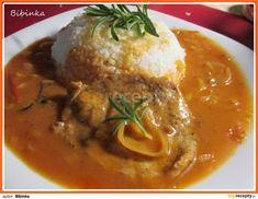 Vepřové plátky chutné a osvěžující svou chutí Food 52, Easy Cooking, Thai Red Curry, Stew, Food And Drink, Menu, Chicken, Dinner, Ethnic Recipes
