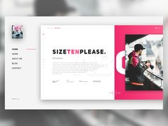 "This is my Landing Page Design for the Photographer ""Sizetenplease"". For Me, He is one of the best Photographer on Instagram.  Check Him Out if you interested in dope Fashion/Sneaker Photos  https:..."
