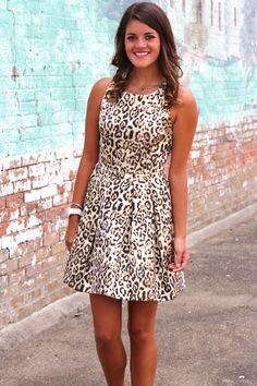 Leopard Jacquard Pleat Dress {Gold Black}