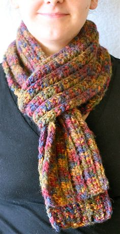 Long Mulit-Colored Knitted Scarf by CMKnitsSF on Etsy