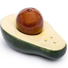 Set Sare si Piper in Forma de Avocado Pottery, Fruit, Mai, Food, Products, Ceramica, Pottery Marks, Essen, Meals
