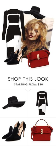 """""""classy"""" by xxelectre on Polyvore featuring San Diego Hat Co., Antonio Berardi, Gianvito Rossi and Henri Bendel"""