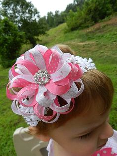 Daddys Princess Flower Hair Bow for Infants and Toddlers (Fathers Day Bow). $6.75, via Etsy.