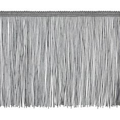 "6"" Chainette Fringe Trim Pewter from @fabricdotcom   This fringe is a beautiful finishing touch on pillows, draperies, costumes and more. It features a 3/8'' header and 6'' long fringe."