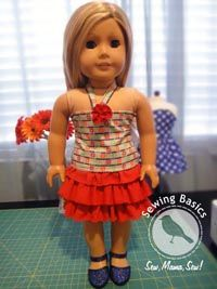 cute no pattern outfit for AG dolls