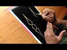 How to pinstripe: Simple Pinstriping Design #1 - YouTube