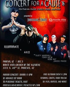 Only 2 weeks away. Concert for a Cause 2016 featuring @illuminateitw x @arize209 x @dmarshall535 x @torinholm & more. Get your tickets now at http://ift.tt/2eZhlZ0  Comment if your coming out!  #c4c16 #chh #hiphop #concert #fundraiser #phoenix #arizona #twitter