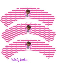 Doc McStuffins party printables (cupcake toppers and cupcake wrappers)