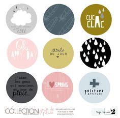 Etiquettes collection jour de pluie