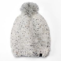 Women's Cuddl Duds Pom-Pom Slouchy Beanie ($20) ❤ liked on Polyvore featuring accessories, hats, white oth, white pom pom hat, pom pom beanie, slouch beanie hats, white beanie hat and slouchy pom pom beanie