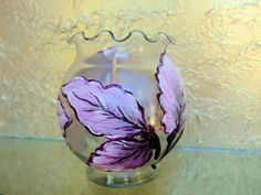 Glass Vase Embellished with Decoupaged Hand by ArtOnceAgain, $36.00
