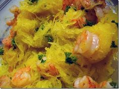 Roasted Shrimp with Spaghetti Squash