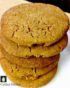 This delicious recipe has been generously shared by one of our great cooks, Carina. Cari's Amazing Ginger Cookies are packed full of flavour and incredibly easy to make. Always good with a nice cup Basic Cookies, Easy Chocolate Chip Cookies, Drop Cookies, Baking Recipes, Cookie Recipes, Dessert Recipes, Delicious Desserts, Yummy Food, Ginger Snap Cookies