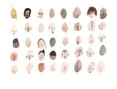 Forty Faces PRINT 11/40 por FayeMoorhouse en Etsy