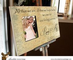 Mother Of The Bride Gift Personalized by chocolatemooseframe, $125.00