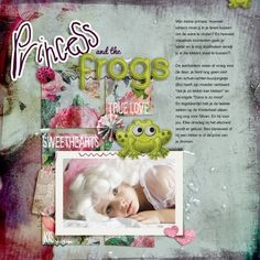 Princess and the frog(s) layout by Melouise Vrijhof   Pixel Scrapper digital scrapbooking