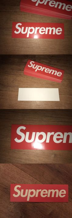 Stickers and decals 47357 supreme box logo sticker guaranteed authentic backdoor bulk 100x buy it now only 399 on ebay pinterest box logo and