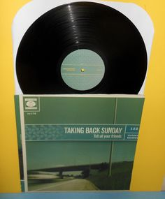 TAKING BACK SUNDAY tell all your friends Lp Record with MISPRINTED COVER/JACKET #AlternativeIndieEmoPunkNewWave
