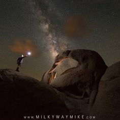 """presents the N I G H T S C A P E R Photo Award to ... . @milky_way_mike . Midnight Explorer at Mobius Arch, Californian. Congratulations to Michael Ver Sprill. """"After getting stuck in LA traffic I arrived to Alabama Hills at sunset and took the wrong trai"""