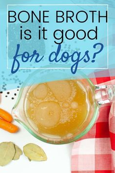 Ever wonder if bone broth is good for your dogs? #bone broth, #dogs Easy Dog Treat Recipes, Dog Food Recipes, Crockpot Recipes, Homemade Dog Cookies, Homemade Dog Food, Healing Soup, Make Dog Food, Crock Pot Cooking, Bone Broth