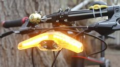 The Blinkers headlight, in Emergency mode Full Suspension Mountain Bike, Belt Drive, Mountain Biking, Lights, Bike Light, Safety, Inspire, Type, Security Guard