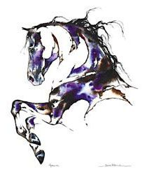 My favorite equestrian artist Sarah Lynn Richards. Look for the hidden pictures in her watercolors.