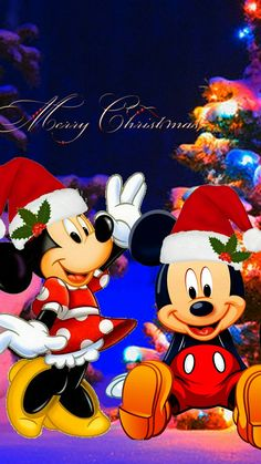 Disney Merry Christmas, Minnie Mouse Christmas, Mickey Minnie Mouse, Christmas Art, Christmas Greetings, Thanksgiving Pictures, Christmas Pictures, Christmas Ringtones, Chateau Disney