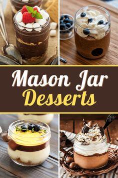 Mason Jar Pies, Mason Jar Desserts, Mason Jar Meals, Meals In A Jar, Baking Recipes, Dessert Recipes, Jar Recipes, Jar Food Gifts, Cheesecake In A Jar