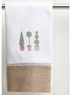 DG49-TTTO+-+Guest+Towel,+Combo+Linens+-+Three+Topiary+Trees+(Olive)