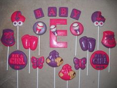 1 chocolate baby shower rattle 3x4 letter molded lollipop lollipops | sapphirechocolates - Edibles on ArtFire