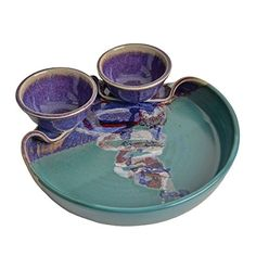 Larrabee Ceramics Double Bowl Chip and Dip Platter, Mauve/Green Larrabee Ceramics http://www.amazon.com/dp/B00OXBE2GA/ref=cm_sw_r_pi_dp_E3q2ub1CFES63