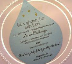 Lots of cute Rain Shower Baby Shower Ideas!