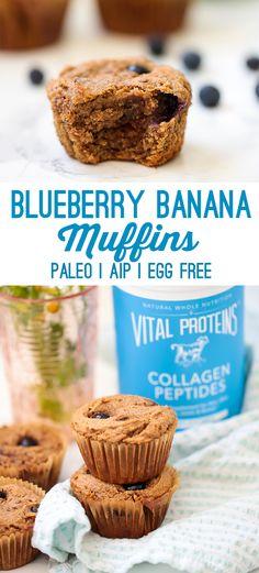 Blueberry Banana Muffins (Paleo, AIP, Egg Free) - Unbound Wellness
