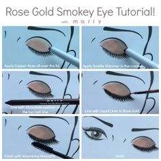 Rose Gold Smokey Eye Tutorial, with Mally
