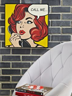HOME COLLECTION Call Me Pop Art Style Canvas Print | very.co.uk