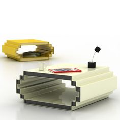 Cool 8-Bit Geek Coffee Table #inspired  interesting... wish it would be with LED´s