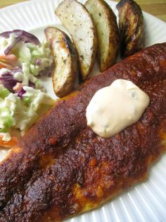 Just my Stuff: Blackened Basa with Sriracha Tartar Sauce