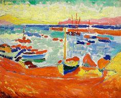 André Derain - Boats in Collioure, 1905.