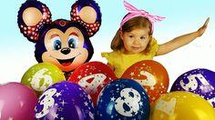 ✿ Прикольные ШАРИКИ Игрушки Видео Для <em>раскраски беби боны</em> Детей от Диана Шоу Mickey Mouse balloon surprise Toy Unboxing {{AutoHashTags}}