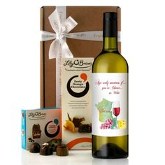 """A Perfect Birthday Wine Gift....Great for family friends... send our exclusive bottle of wine with a traditional style wine label with a classic quote: """"Age only matters if you're Cheese or Wine.  Illustrated with watercolour cheese grapes and wine glass."""