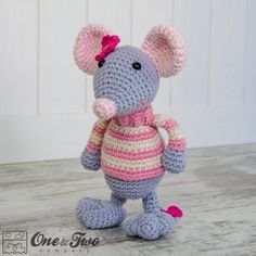 Emily the Mouse Amigurumi PDF Crochet Pattern Instant