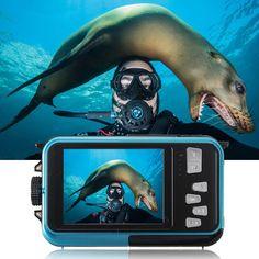 XANES HD 1080P 24MP Double Screen 16X Zoom Digital Camera LED Flashlight Waterproof - Blue Snowboarding, Skiing, Outdoor Recreation, Led Flashlight, Hd 1080p, Water Sports, Digital Camera, Blue, Snow Board
