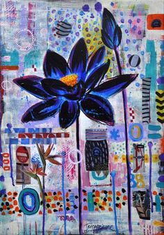 "Saatchi Art Artist Tezcan Bahar; Painting, ""Black Lotus - 4"" #art"