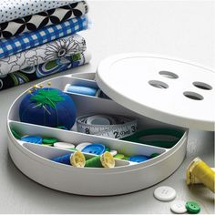 Button Box for sewing supplies