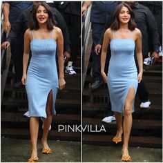 Want to wear comfortable flats and look glam? Here's how you can style your flats and look chic Anushka Sharma, Priyanka Chopra, Indian Bollywood Actress, Bollywood Style, Polka Dot Shoes, Strapless Dress, Bodycon Dress, Monochrome Outfit, Comfortable Flats