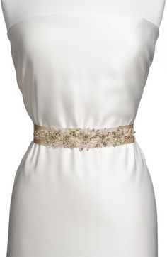 Nina 'Ornate Crystal' Sash | Nordstrom #wedding
