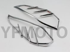 27.89$  Watch here - http://aibr7.worlditems.win/all/product.php?id=32615612424 - New 1 Pair Chrome Motorcycle Mid-Frame Air Deflector Accents Decorative Edge For Harley Touring Trike 2009 +