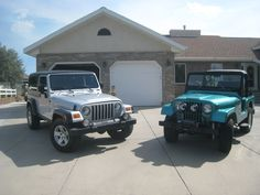 2006 LJ and 1969 37 years - blood runs deep! Jeeps, Antique Cars, Blood, Antiques, Vehicles, Vintage Cars, Antiquities, Antique, Car