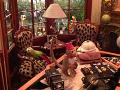 African Game Room & Garden by Michael Puff.  2014 San Jose Good Sam Show & Sale of Dollhouse Miniatures